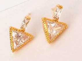 5b14d2b72701 Aretes Oro Forma De Triangulo - Aretes en Mercado Libre México