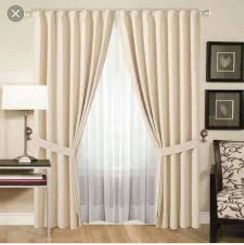elegantes cortinas combinadas (decotex  & dopiovello suizo)