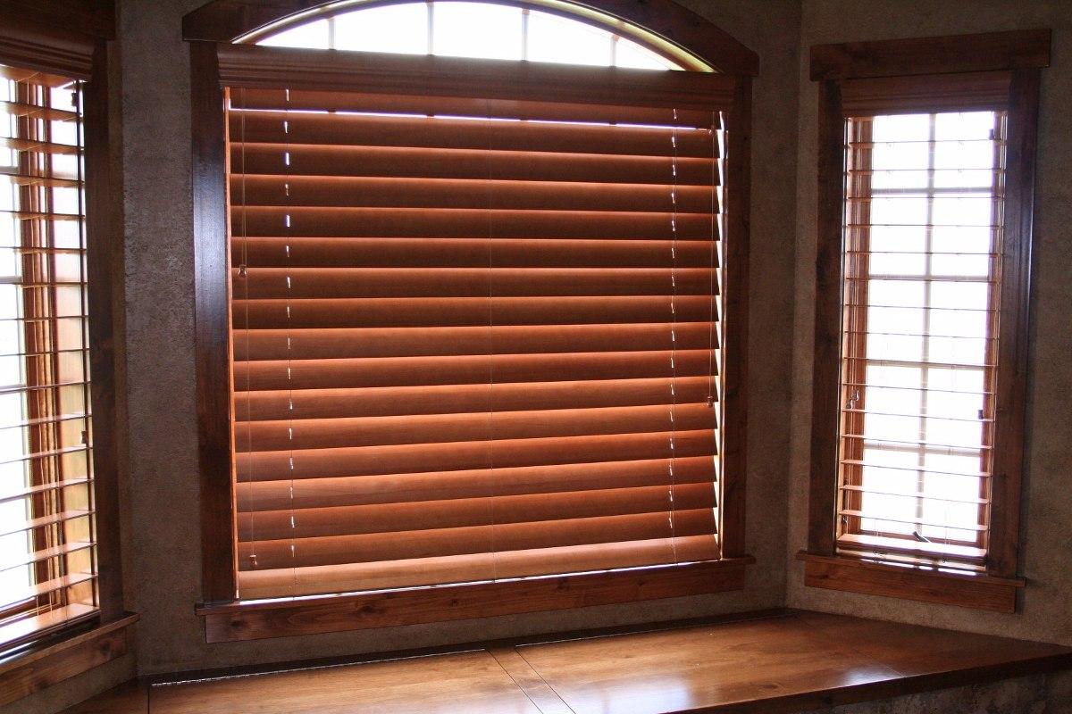 Elegantes persianas madera basswood horizontal 1 350 for Persianas madera