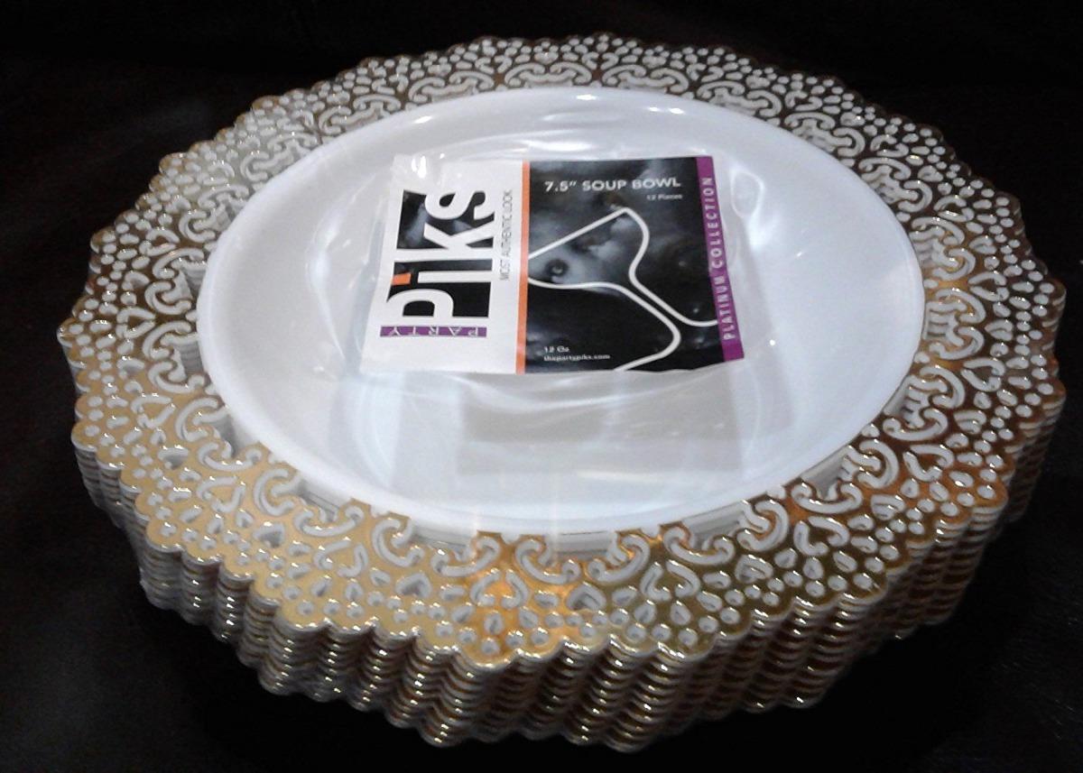 elegantes platos desechables de pl u00e1stico vajillas
