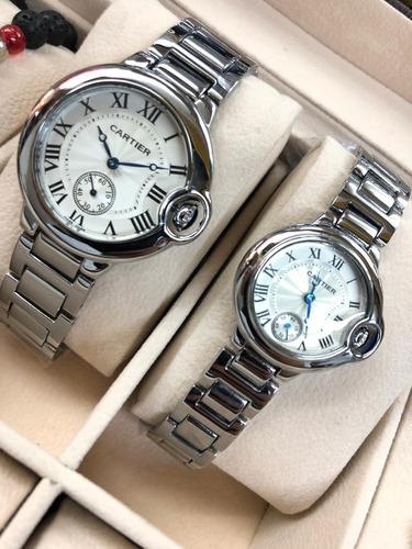 elegantes relojes cartier para dama y caballero
