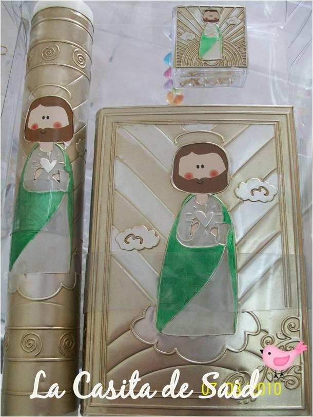 Elegantes sets de primera comunion biblia rosario y vela - Proveedores de velas ...