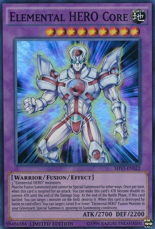 elemental hero héroe elemental núcleo super raro yugioh