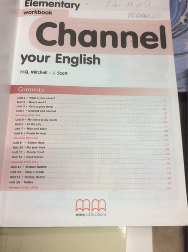 elementary channel your english. libro escolar de inglés