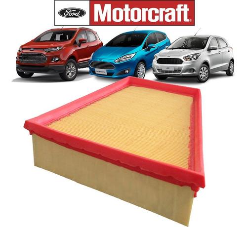 elemento filtro de ar original ford motorcraft mb6a9601aa - ford new fiesta 1.5 1.6 nova ecosport 1.6 new ka 1.0 e 1.5