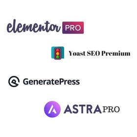Elementor Pro + Astra Pro + Generatepress + Yoast Seo Pro