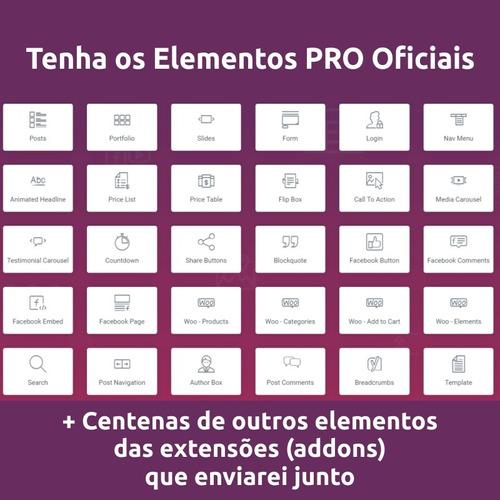 elementor pro + tema phlox pro + extensões addons + brindes