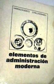 elementos de administracion moderna