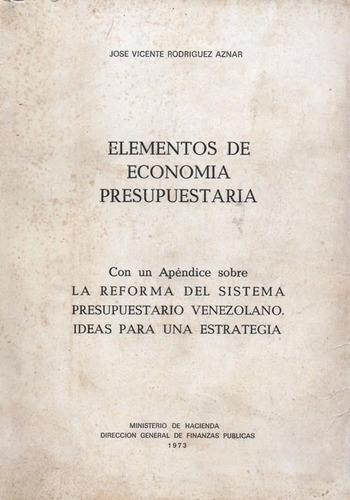 elementos de economia presupuestaria