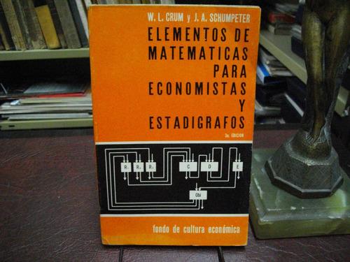 elementos de matemáticas para economistas y estadígrafos.