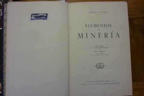 elementos de minería. george j. young