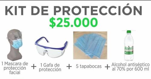 elementos de protección y alcohol
