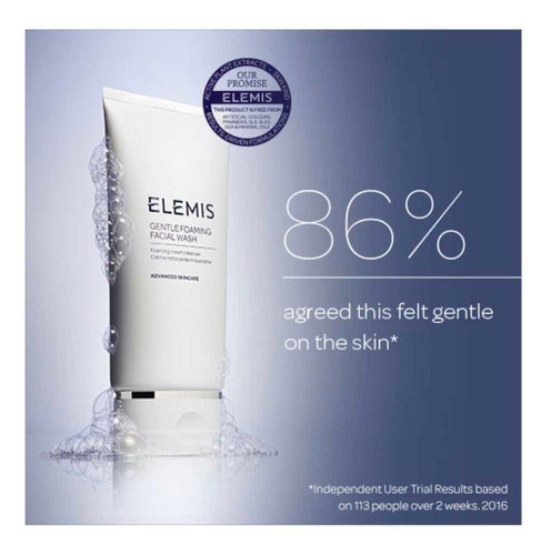 elemis gentle foaming facial wash , foaming cream cleanser.
