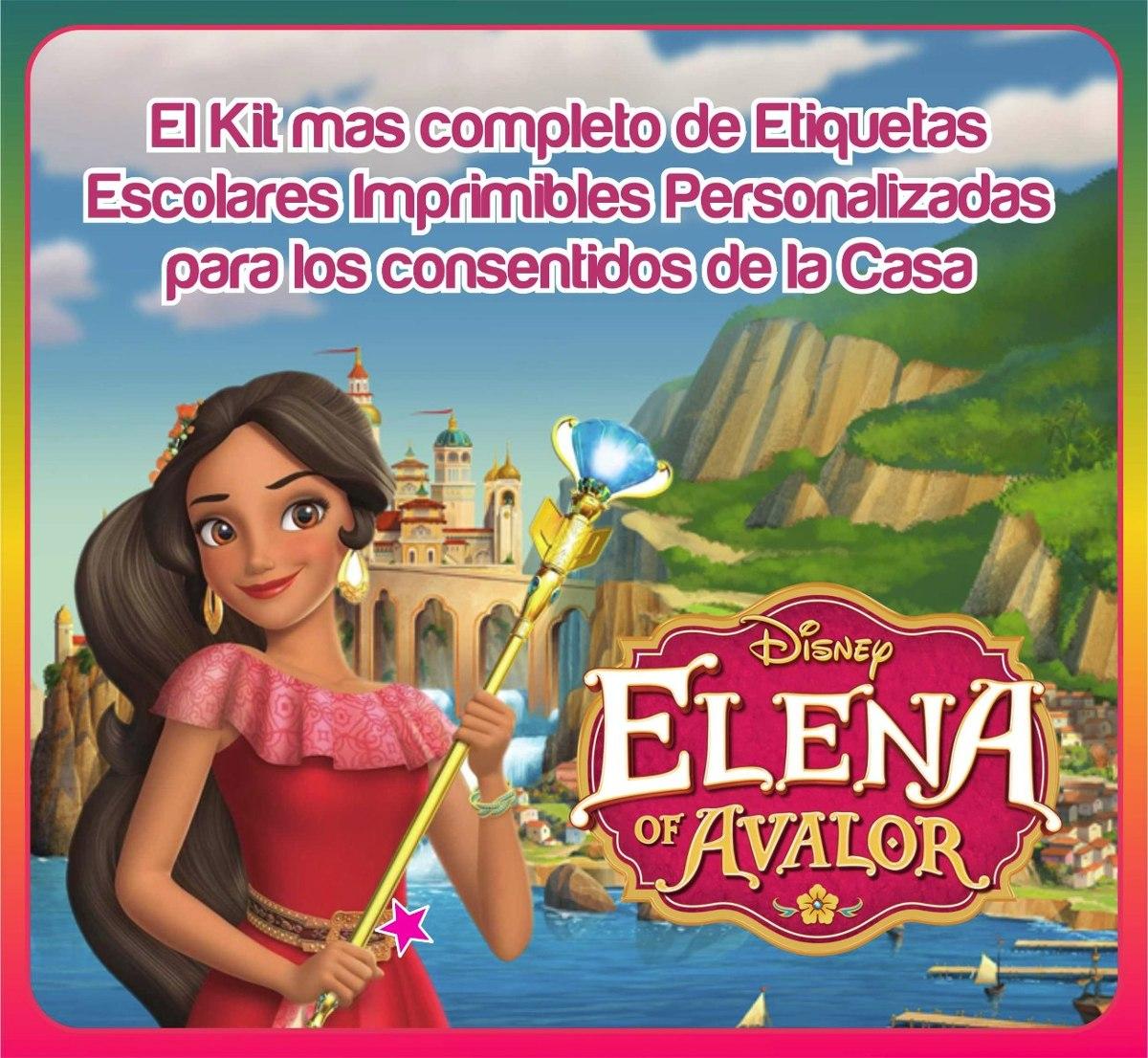 Elena De Avalor Etiquetas Escolares Imprimibles Kit Completo - Bs. 3 ...