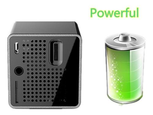 eleoption proyector de bolsillo portátil, lpd cube mini proy