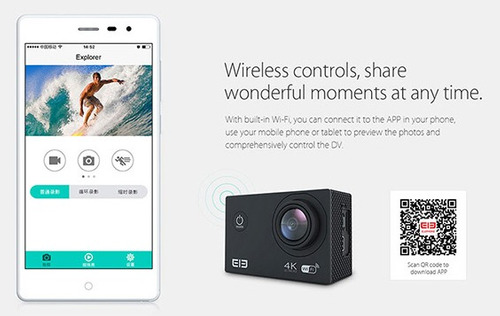 elephone explorer 4k uhd wifi original action cam remato 400