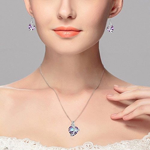 elequeen 925 sterling silver cz  courageous heart  collar co