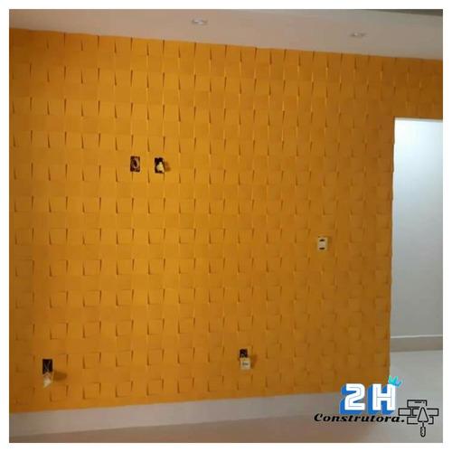 (elétrica, hidráulica, gesso, pinturas, revestimentos, piso