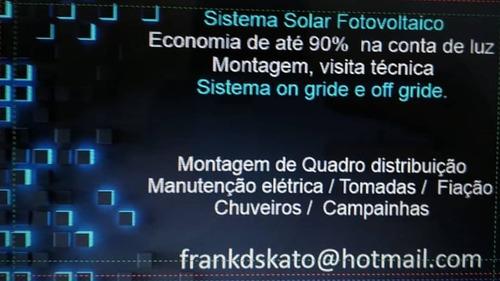elétrica, manutenções, drywall e sistema solar