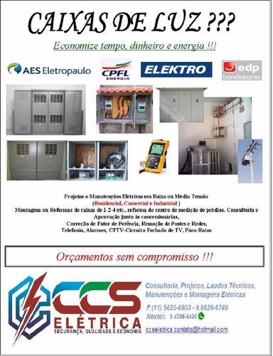 elétrica projetos, art/crea, engº, técnicos e eletricistas
