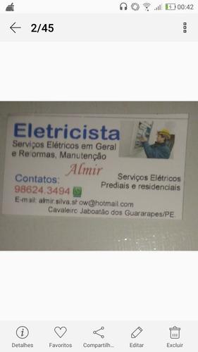 eletricista encanador reforma e manutenção fone 81)986243494