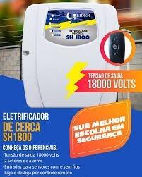 eletrificador de cerca elétrica e alarme com 2 controles