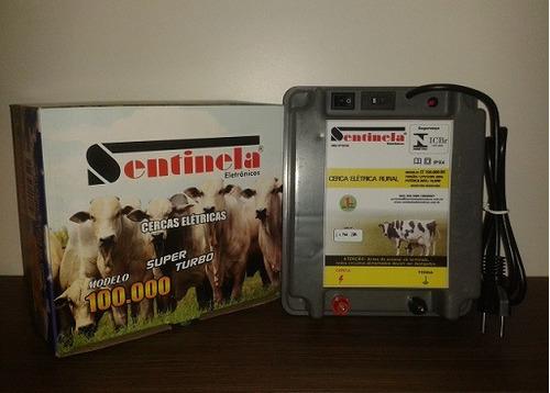 eletrificador de cerca rural 100km sentinela bivolt 110/220v