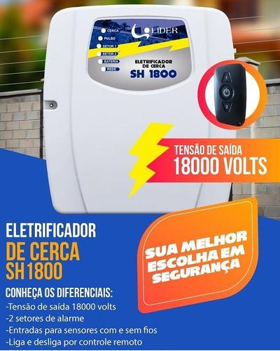 eletrificador residencial com alarme 18.000 volts
