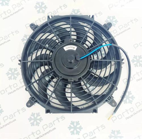 eletro ventilador ventoinha 12 polegadas universal 12v 80w