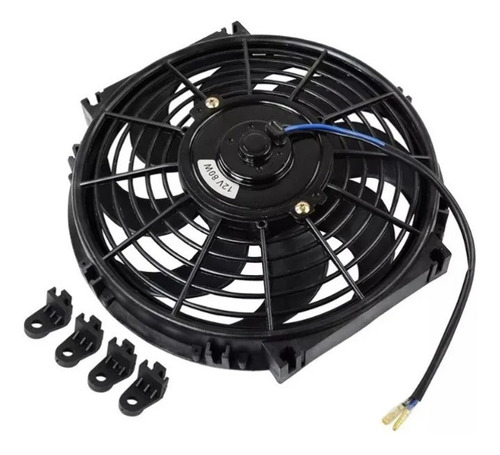 eletro ventilador ventoinha universal 10 polegadas 12v 80w