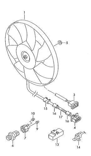 eletro.ventoinha 220/60w 290mm audi a3 c/ ar condicionado