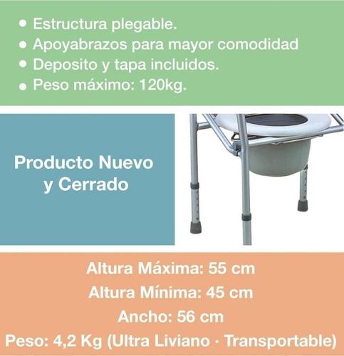 eleva water sobre inodoro plegable silla ducha aluminio