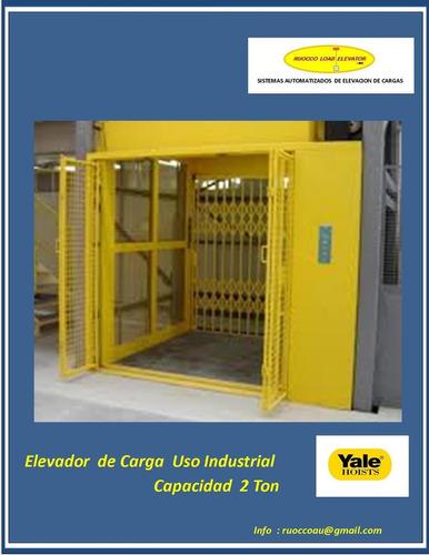 elevador ascensor carga 1200 kgrm 10 m / 2 stop