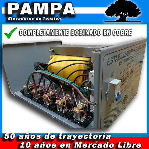 elevador automático de tensión 12 kva pampa estabilizador