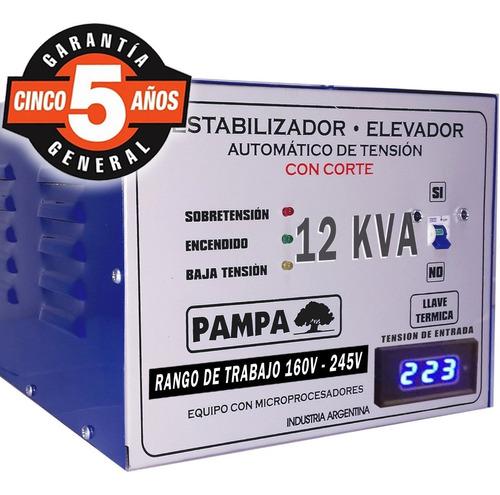 elevador automático de tensión 12 kva pampa estabilizador cu