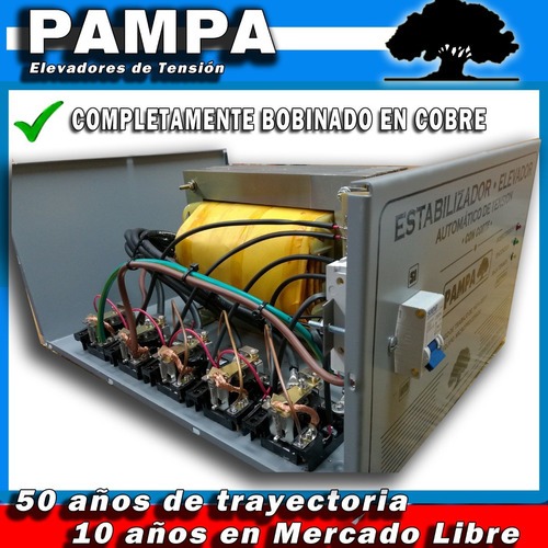 elevador automático de tensión 8 kva pampa estabilizador