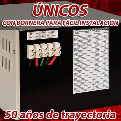 elevador automático de tensión 8 kva (r 140v) estabilizador
