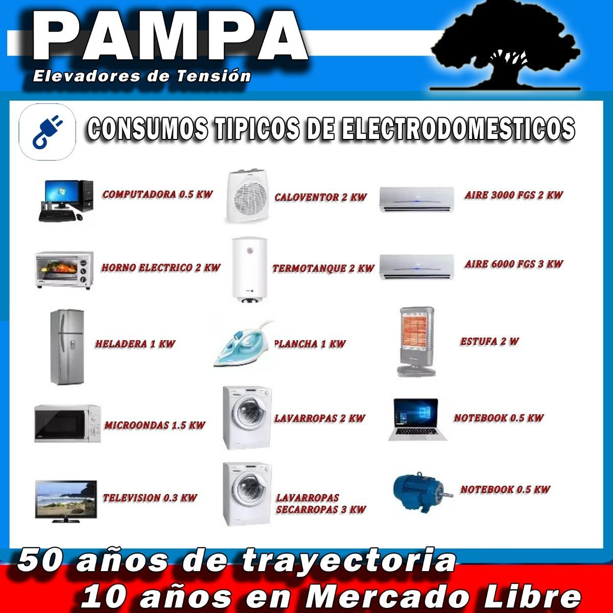 Elevador Automático De Tensión 9 Kva Pampa Estabilizador -   12.400 ... cb48dd0cad8