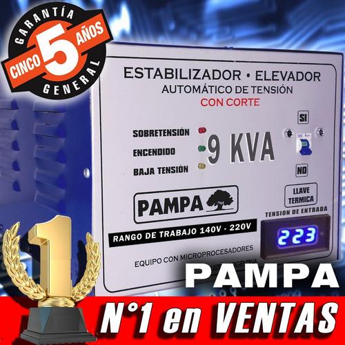 elevador automático de tensión 9 kva pampa r 140v /220v cuot