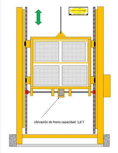 elevador carga 2000 kgrm /3 stop / 14 mt