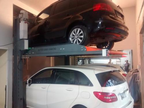 elevador coche auto via plataforma: garaje estacionamiento