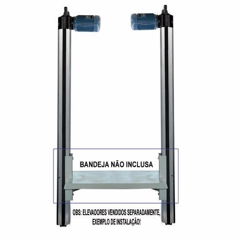elevador de carga 5,80mts 80kgs a pronta entrega monta carga