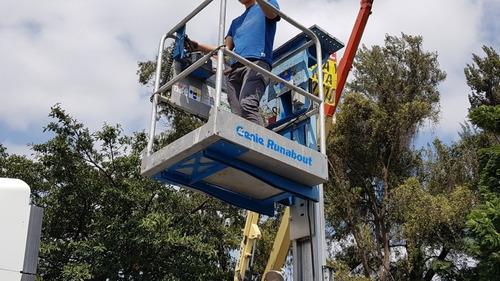 elevador de personas genie gr124 mts, año 2013, cap 50o lbs
