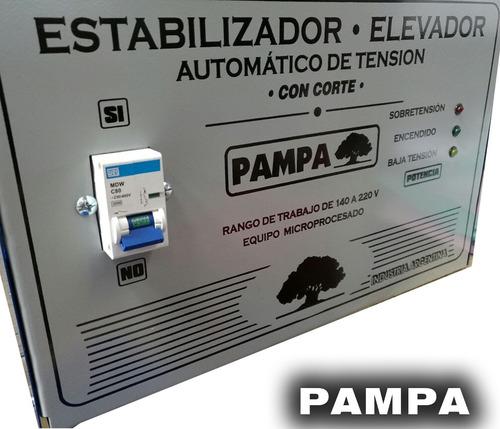 elevador de tensión automático 20 kva rango 140v pampa