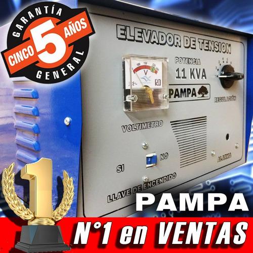elevador de tensión manual 11 kva pampa rango de  90v a 220v
