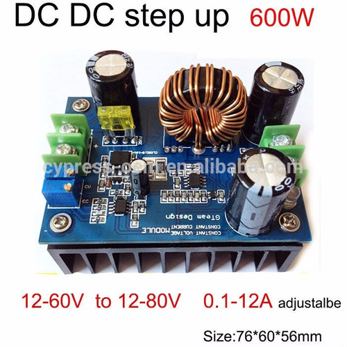 elevador de tensão dc-dc 16 amp  fonte ajustavel  step up