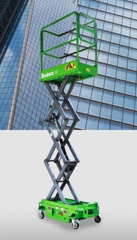 elevador de tijera eléctrico de 3,9 mts y 6 mts