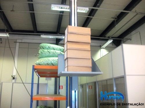 elevador monta carga 3 metros 80kgs fast pronta entrega