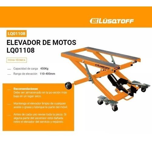 elevador p/ motos cuatriciclos hasta 450kg lusqtoff lq-01108