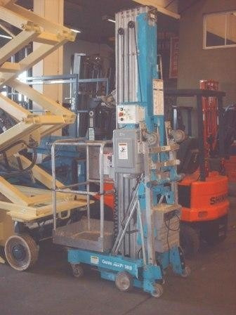 elevador personal genie, eleva 12.97 mts. eléctrica